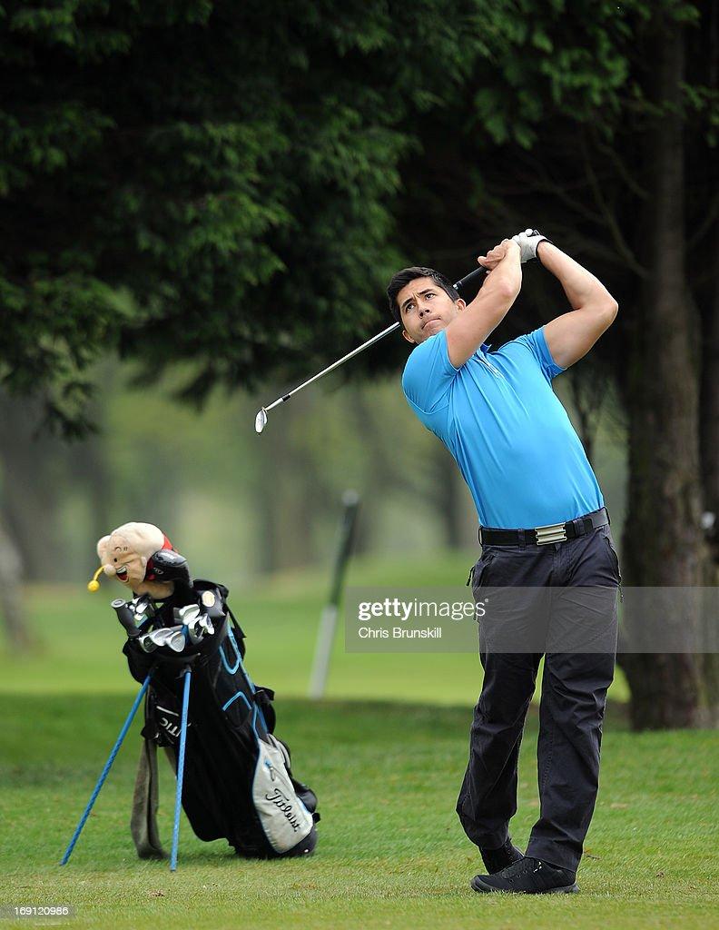 Charles Tetlow of Wynyard Golf Club in action during the Powerade PGA Assistants' Championship Regional Qualifier at Penwortham Golf Club on May 20, 2013 in Preston, England.