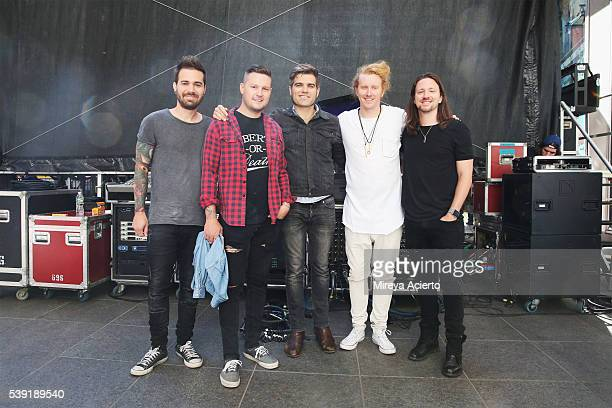 Charles Trippy Hunter Thomsen Coley O'Toole Travis Clark and Danny Duncan of We The Kings perform during 'FOX Friends' All American Concert Series...