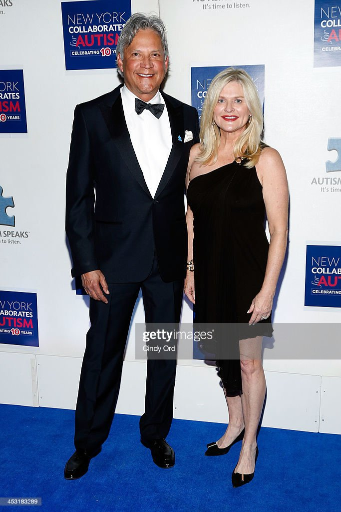 Charles Turney and CEO and President of Victoria's Secret Sharen Jester Turney attend the Winter Ball for Autism at Metropolitan Museum of Art on...