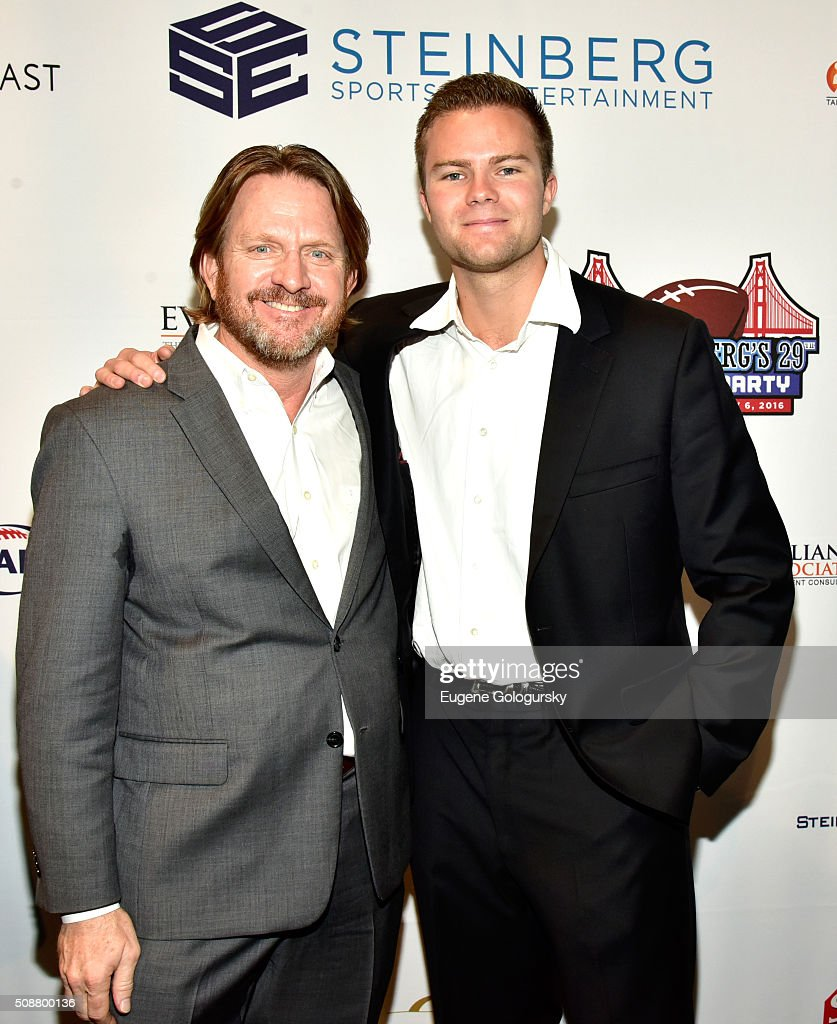 Charles Upchurch and Cody Gifford attend the 29th Annual Leigh Steinberg Super Bowl Party on February 6, 2016 in San Francisco, California.