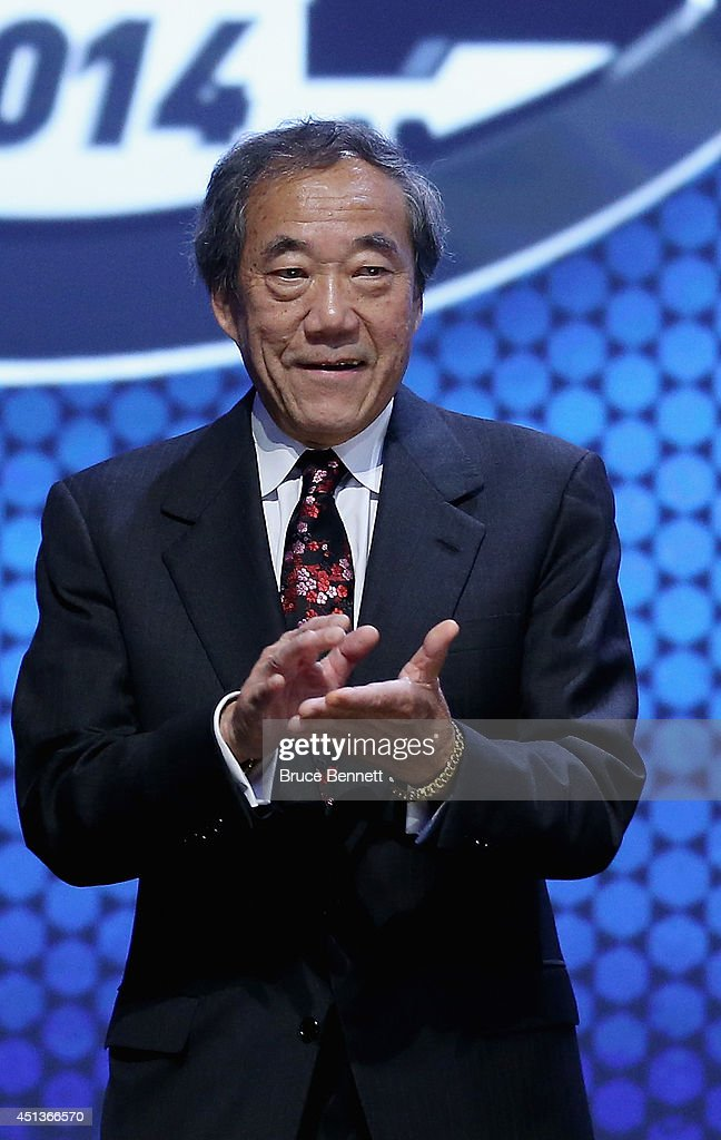 Charles Wang, New York Islanders Owner, speaks during the first round of the 2014 NHL Draft at the Wells Fargo Center on June 27, 2014 in Philadelphia, Pennsylvania.