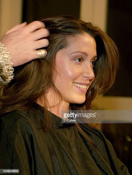 Charles Worthington styling Shannon Elizabeth's hair