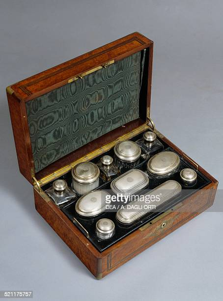 Charles Xstyle box with a travel toilet set for men France 18th century France