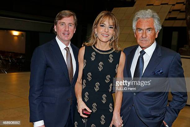 CharlesHenri de Lobkowicz Patricia d'Arenberg and JeanPaul Enthoven attend the evening gala of the exhibition Pierre Bonnard in Paris France on march...