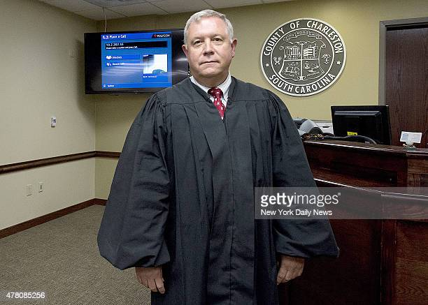 Charleston Judge James Gosnell inside his chambers Charleston County Bond Court after the bond hearing for Dylann Storm Roof Friday June 19th 2015