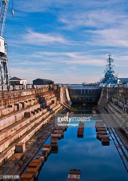 Charlestown Navy Yard Historic Dry Dock on Boston Freedom Trail