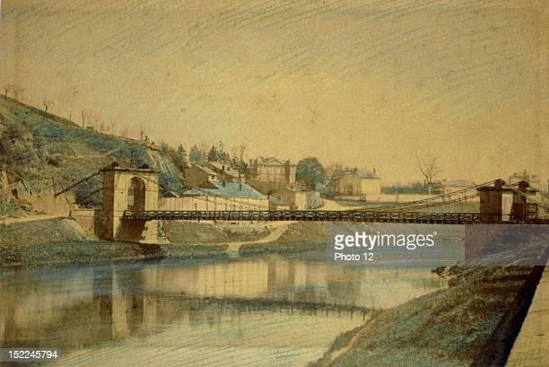 CharlevilleMezieres watercolor 19th France Departmental Archives of the Ardennes