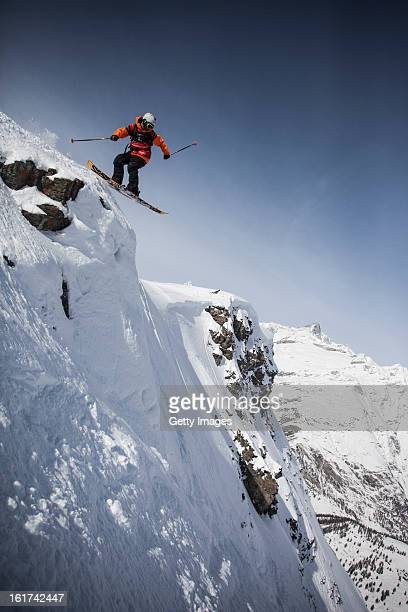Charley Ager of Canada and Team Americas competes during day 5 of the Swatch Skiers Cup on February 14 2013 in Zermatt Switzerland