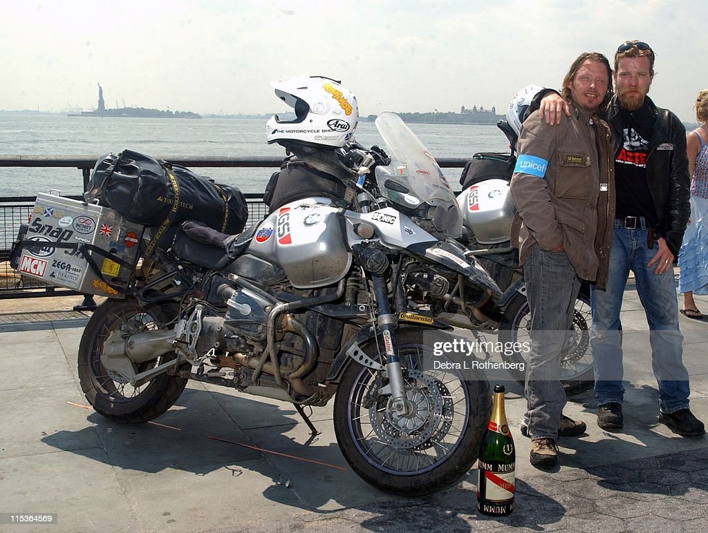 Charley Boorman And Ewan McGregor During Complete Their Epic 20000 Mile
