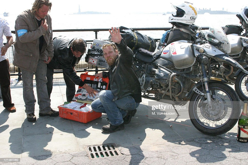 Charley Boorman Ewan McGregor During And Complete The Long Way