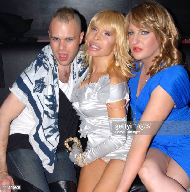 Charley Brown Amanda Lepore and Bianca Fields during Kenny Kenny and Amanda Lepore Host Happy Valley April 4 2006 at Happy Valley in New York City NY...
