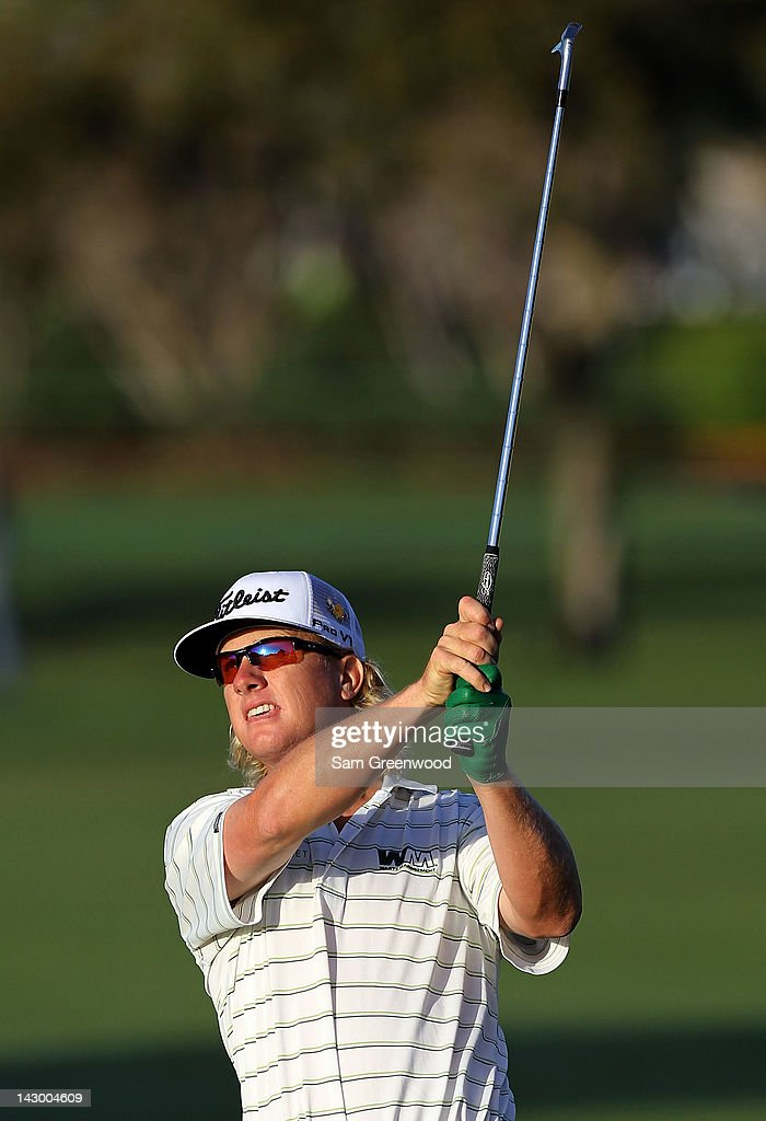 <a gi-track='captionPersonalityLinkClicked' href=/galleries/search?phrase=Charley+Hoffman&family=editorial&specificpeople=578840 ng-click='$event.stopPropagation()'>Charley Hoffman</a> hits a shot during the first round of the Arnold Palmer Invitational presented by MasterCard at the Bay Hill Club and Lodge on March 22, 2012 in Orlando, Florida.