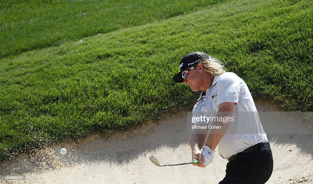 <a gi-track='captionPersonalityLinkClicked' href=/galleries/search?phrase=Charley+Hoffman&family=editorial&specificpeople=578840 ng-click='$event.stopPropagation()'>Charley Hoffman</a> hits his third shot on the 15th hole from a bunker during the third round of the Valero Texas Open held at the AT&T Oaks Course at TPC San Antonio on April 6, 2013 in San Antonio, Texas.