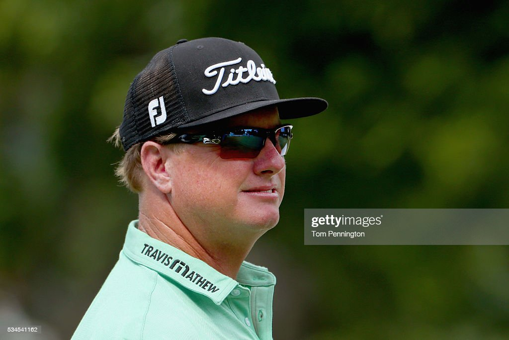 <a gi-track='captionPersonalityLinkClicked' href=/galleries/search?phrase=Charley+Hoffman&family=editorial&specificpeople=578840 ng-click='$event.stopPropagation()'>Charley Hoffman</a> looks on from the tenth hole during the First Round of the DEAN & DELUCA Invitational at Colonial Country Club on May 26, 2016 in Fort Worth, Texas.