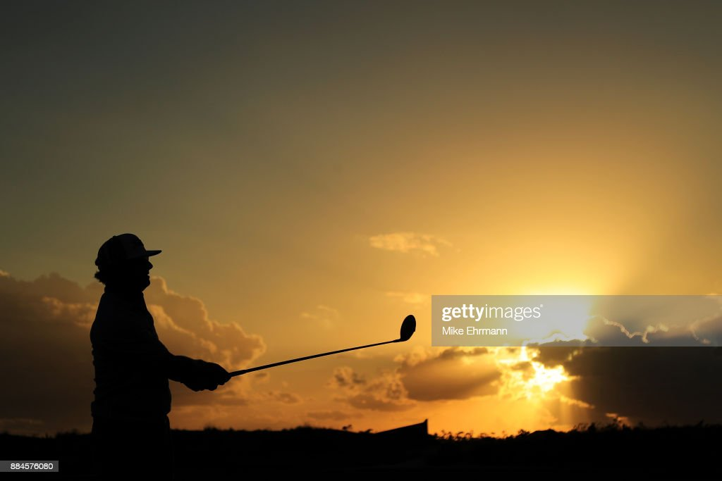 Charley Hoffman of the United States plays his shot from the 18th tee during the third round of the Hero World Challenge at Albany, Bahamas on December 2, 2017 in Nassau, Bahamas.