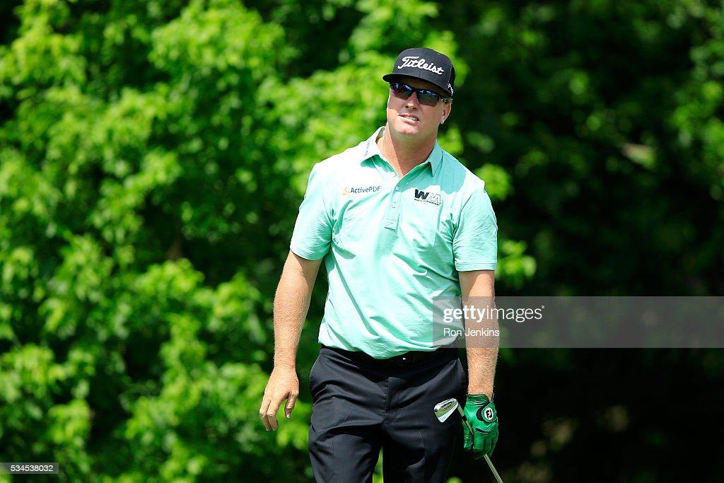 <a gi-track='captionPersonalityLinkClicked' href=/galleries/search?phrase=Charley+Hoffman&family=editorial&specificpeople=578840 ng-click='$event.stopPropagation()'>Charley Hoffman</a> plays his shot from the eighth tee during the First Round of the DEAN & DELUCA Invitational at Colonial Country Club on May 26, 2016 in Fort Worth, Texas.