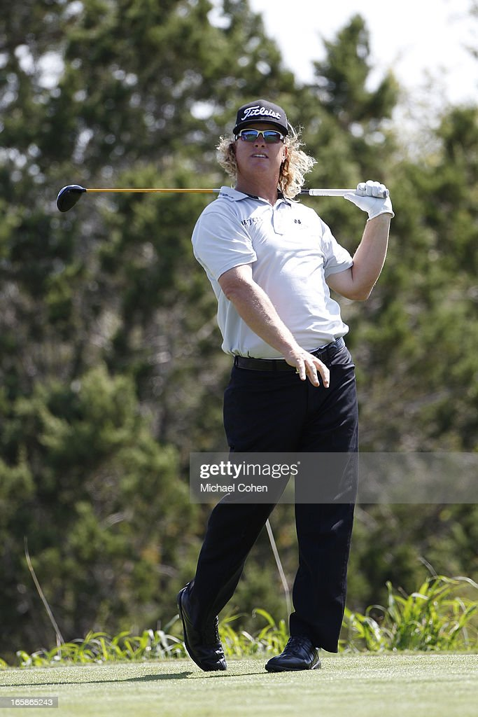 <a gi-track='captionPersonalityLinkClicked' href=/galleries/search?phrase=Charley+Hoffman&family=editorial&specificpeople=578840 ng-click='$event.stopPropagation()'>Charley Hoffman</a> reacts to his errant drive on the 15th hole during the third round of the Valero Texas Open held at the AT&T Oaks Course at TPC San Antonio on April 6, 2013 in San Antonio, Texas.