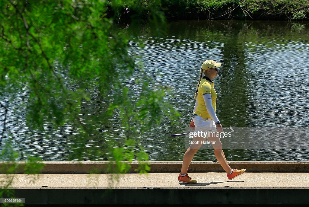 <a gi-track='captionPersonalityLinkClicked' href=/galleries/search?phrase=Charley+Hull&family=editorial&specificpeople=7118530 ng-click='$event.stopPropagation()'>Charley Hull</a> of England walks to the eighth green during the third round of the Volunteers of America Texas Shootout at Las Colinas Country Club on April 30, 2016 in Irving, Texas.