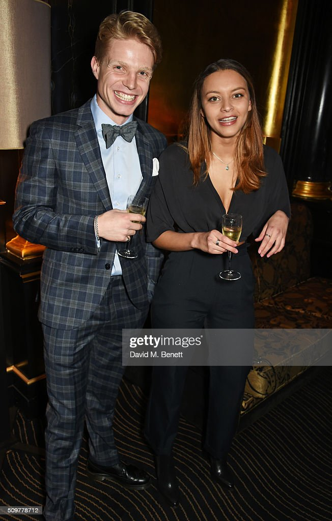 Charley Palmer Rothwell (L) and Amina Fisher attends the GQ and Hackett Pre-BAFTA party, celebrating Hackett's fifth year as the Official Menswear Stylist to the EE British Academy Film Awards, at The Savoy Hotel on February 12, 2016 in London, England.