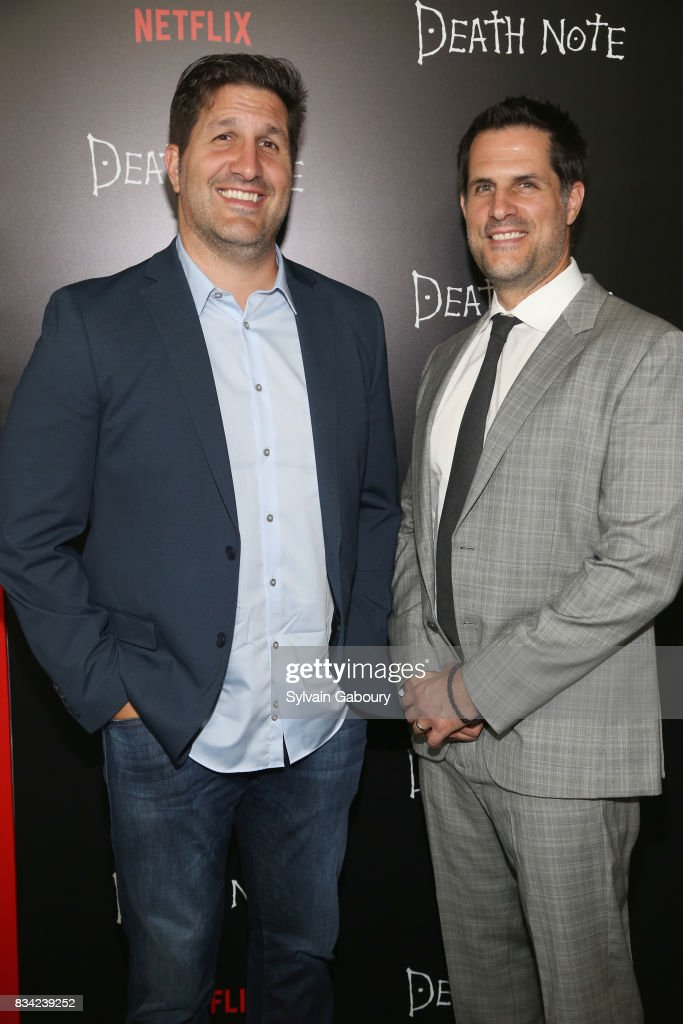Charley Parlapanides and Vlas Parlapanides attend 'Death Note' New York Premiere at AMC Loews Lincoln Square 13 theater on August 17, 2017 in New York City.