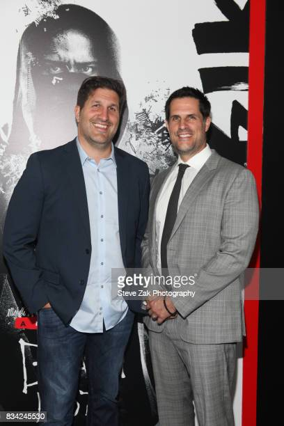 Charley Parlapanies and Vlas Parlapanides attend 'Death Note' New York premiere at AMC Loews Lincoln Square 13 theater on August 17 2017 in New York...