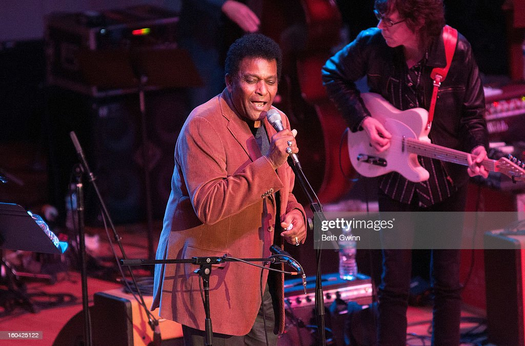 Charley Pride performs during the Tribute to Cowboy Jack Clement at War Memorial Auditorium on January 30, 2013 in Nashville, Tennessee.