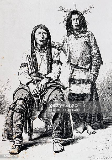 Charley Snake Indian and his cousin belonging to the Utah tribe United States 19th century Venice Biblioteca Nazionale Marciana