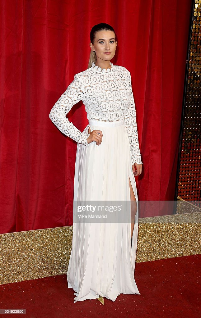 <a gi-track='captionPersonalityLinkClicked' href=/galleries/search?phrase=Charley+Webb&family=editorial&specificpeople=626685 ng-click='$event.stopPropagation()'>Charley Webb</a> attends the British Soap Awards 2016 at Hackney Empire on May 28, 2016 in London, England.