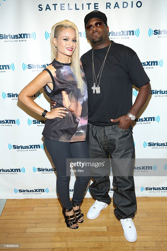 Charli Baltimore (L) and Trick Trick visit at SiriusXM Studios on August 28, 2013 in New York City.