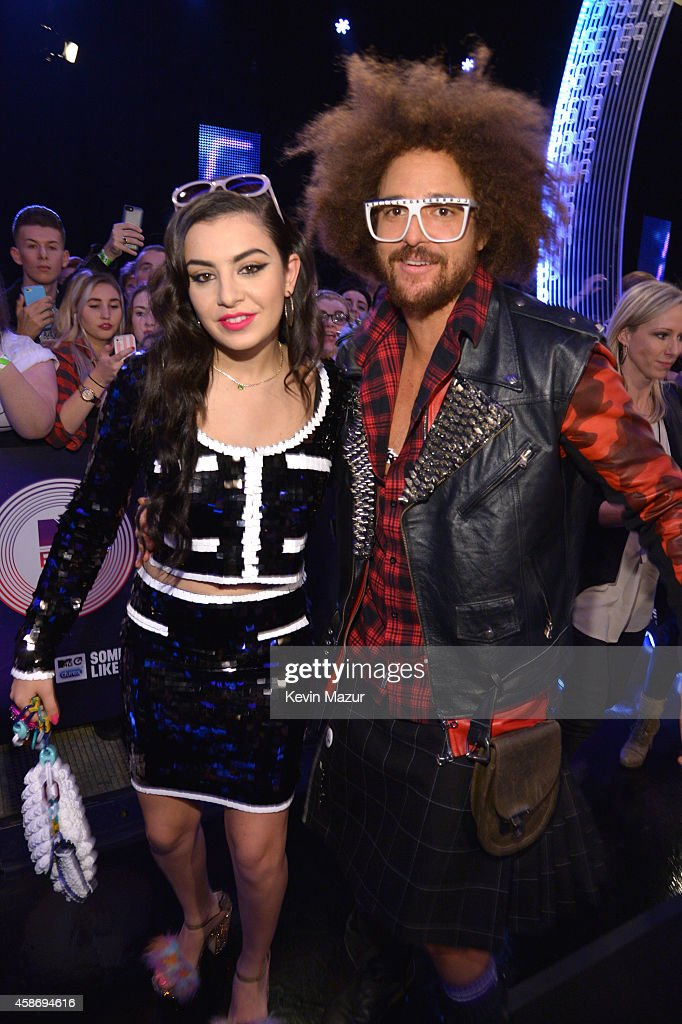 Charli XCX and Redfoo attend the MTV EMA's 2014 at The Hydro on November 9, 2014 in Glasgow, Scotland.