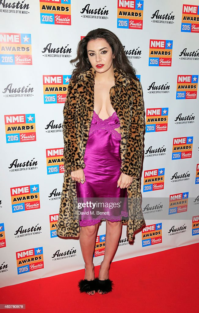 Charli XCX arrives at the NME Awards at Brixton Academy on February 18 2015 in London England