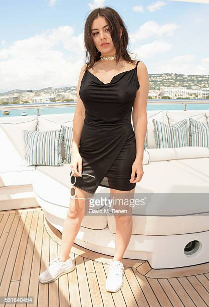Charli XCX attends a private luncheon hosted by Len Blavatnik and Harvey Weinstein aboard Odessa II on May 15 2016 in Cannes France