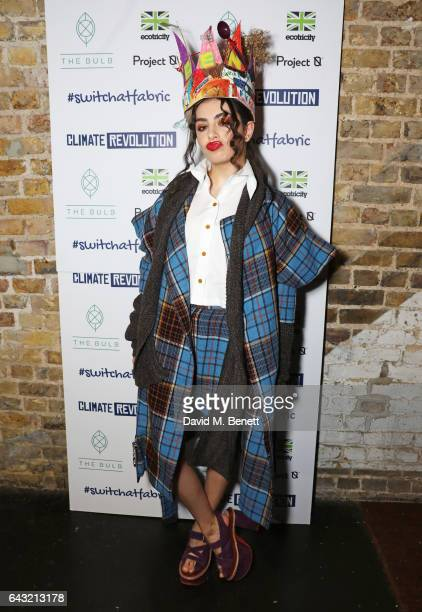 Charli XCX attends Dame Vivienne Westwood and James Jagger's Mad Max party in aid of climate change during London Fashion Week February 2017 at...