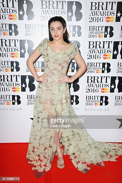 Charli XCX attends the BRIT Awards 2016 at The O2 Arena on February 24 2016 in London England