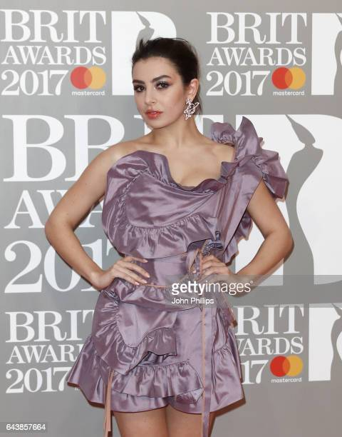 Charli XCX attends The BRIT Awards 2017 at The O2 Arena on February 22 2017 in London England