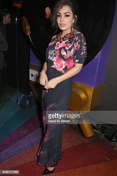 Charli XCX attends the LOVE magazine x Miu Miu party held during London Fashion Week at Loulou's on September 18 2017 in London England
