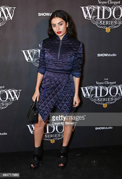 Charli XCX attends the Veuve Clicquot Widow Series 'A Beautiful Darkness' curated by Nick Knight and SHOWstudio on October 28 2015 in London England