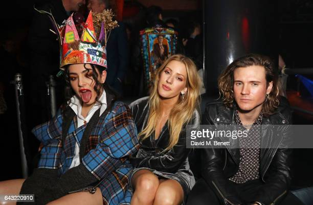 Charli XCX Ellie Goulding and Dougie Poynter attend Dame Vivienne Westwood and James Jagger's Mad Max party in aid of climate change during London...
