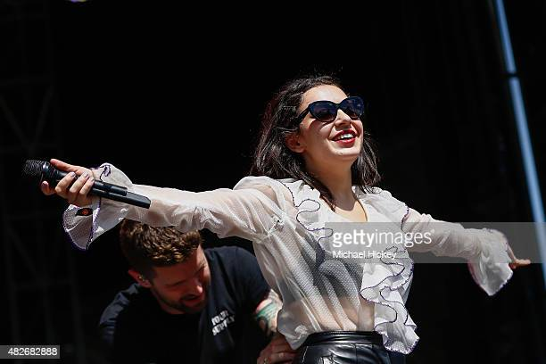 Charli XCX performs at 2015 Lollapalooza at Grant Park on August 1 2015 in Chicago Illinois