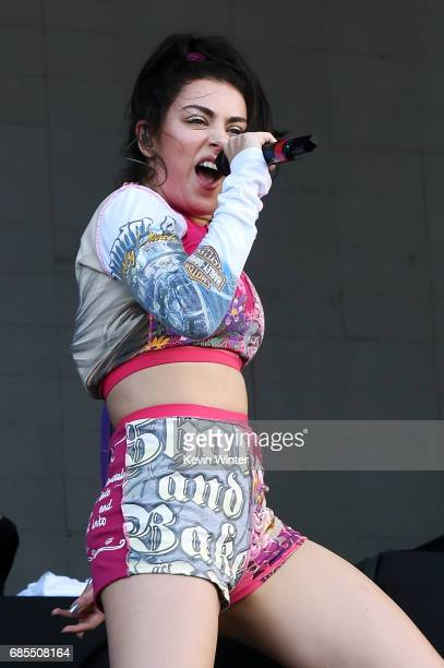 Charli XCX performs at the Hangout Stage during the 2017 Hangout Music Festival on May 19 2017 in Gulf Shores Alabama