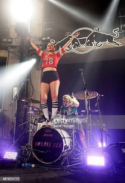 Charli XCX performs during the Red Bull Studios Future Underground second night at Collins Music Hall on September 10 2015 in London England