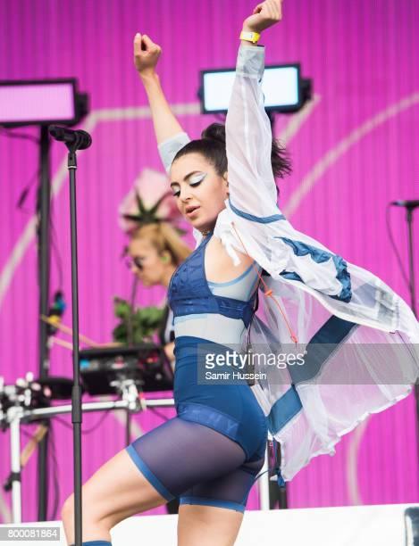 Charli XCX performs on day 2 of the Glastonbury Festival 2017 at Worthy Farm Pilton on June 23 2017 in Glastonbury England