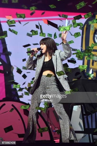 Charli XCX performs on stage during the MTV EMAs 2017 held at The SSE Arena Wembley on November 12 2017 in London England