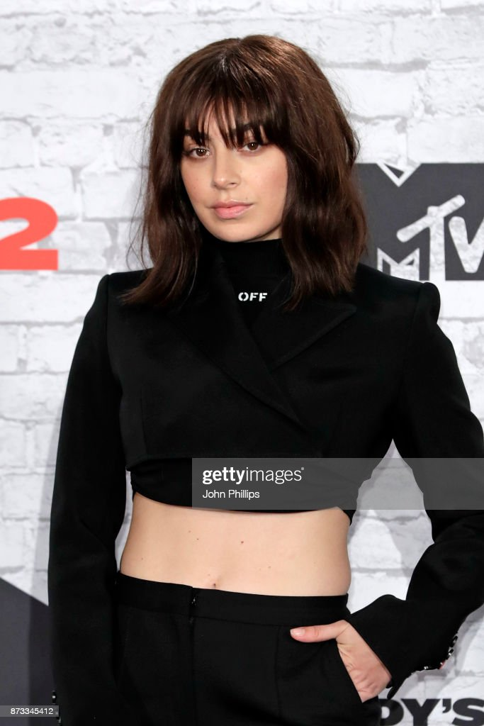 Charli XCX poses in the winner's room during the MTV EMAs 2017 held at The SSE Arena, Wembley on November 12, 2017 in London, England.