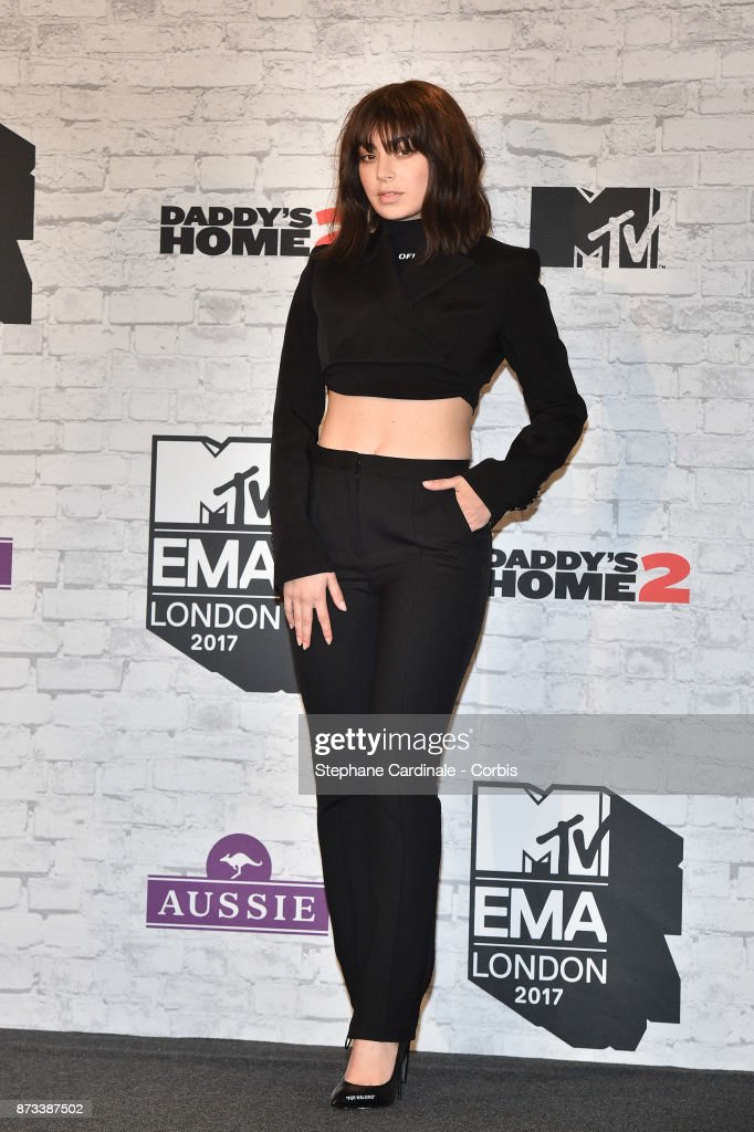 Charli XCX poses in the Winners Room during the MTV EMAs 2017 held at The SSE Arena, Wembley on November 12, 2017 in London, England.