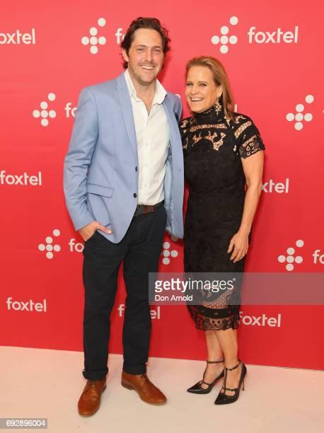 Charlie Albone and Shaynna Blaze pose during a Foxtel Event at Hordern Pavilion on June 6 2017 in Sydney Australia