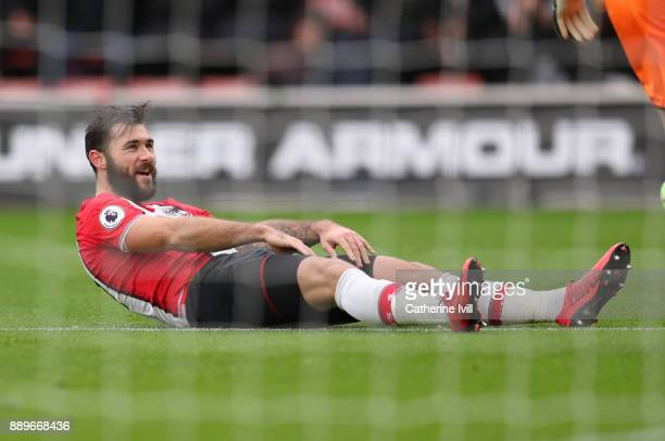 Charlie Austin of Southampton during the Premier League match between Southampton and Arsenal at St Mary's Stadium on December 10 2017 in Southampton...