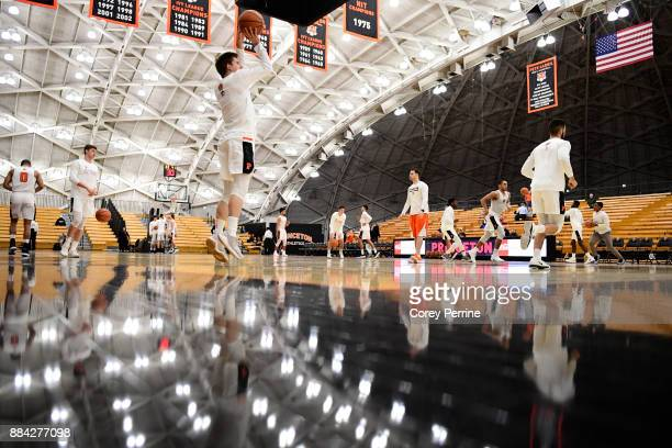 Charlie Bagin of the Princeton Tigers shoots the ball before the game against the Lehigh Mountain Hawks at L Stockwell Jadwin Gymnasium on November...
