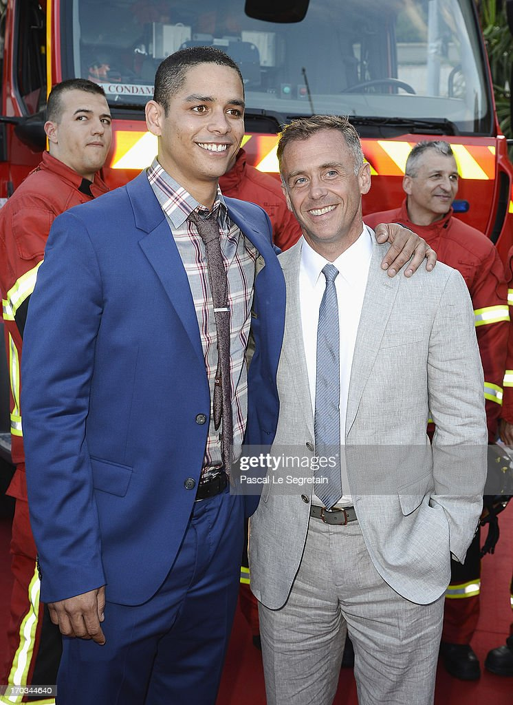 Charlie Barnett (L) and David Eigenberg pose at the 'Chicago Fire' Photocall with the Monaco fire brigade during the 53rd Monte-Carlo TV Festival on June 11, 2013 in Monte-Carlo, Monaco.