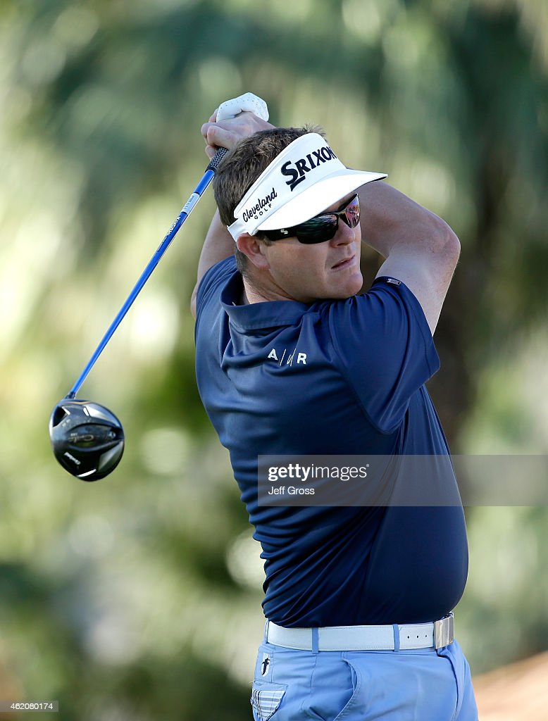 <a gi-track='captionPersonalityLinkClicked' href=/galleries/search?phrase=Charlie+Beljan&family=editorial&specificpeople=5926093 ng-click='$event.stopPropagation()'>Charlie Beljan</a> of the United States tees off on the second hole during round three of the Humana Challenge in Partnership with The Clinton Foundationon on the Arnold Palmer Private Course at PGA West on January 24, 2015 in La Quinta, California.